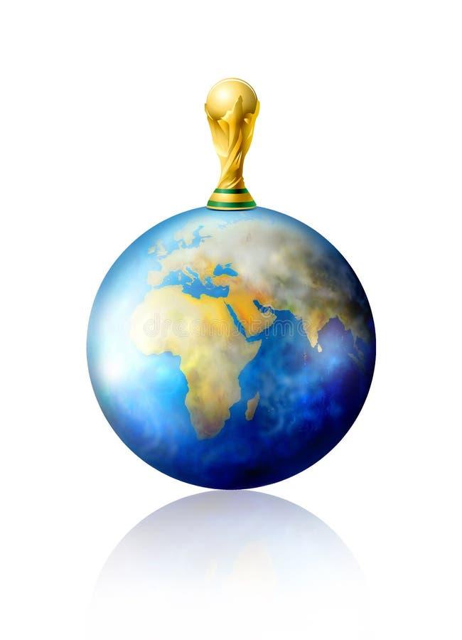 Troféu do futebol do copo de mundo ilustração do vetor