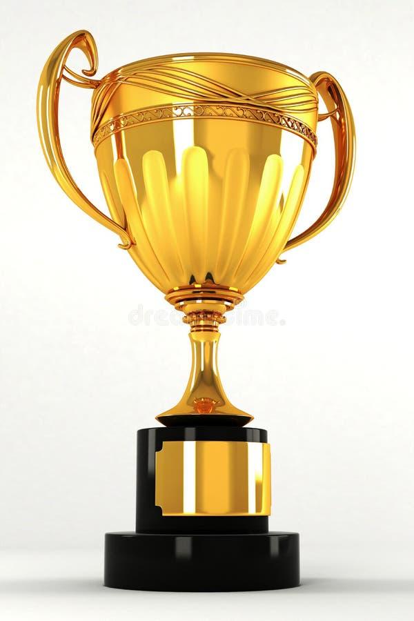 Troféu do ouro ilustração royalty free