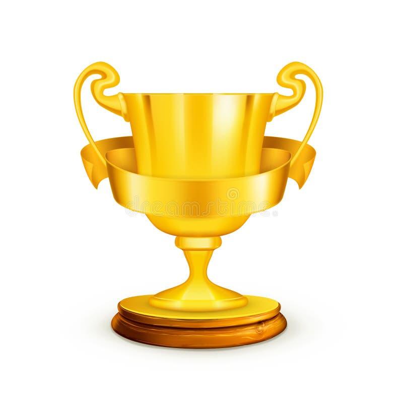 Troféu do ouro ilustração do vetor