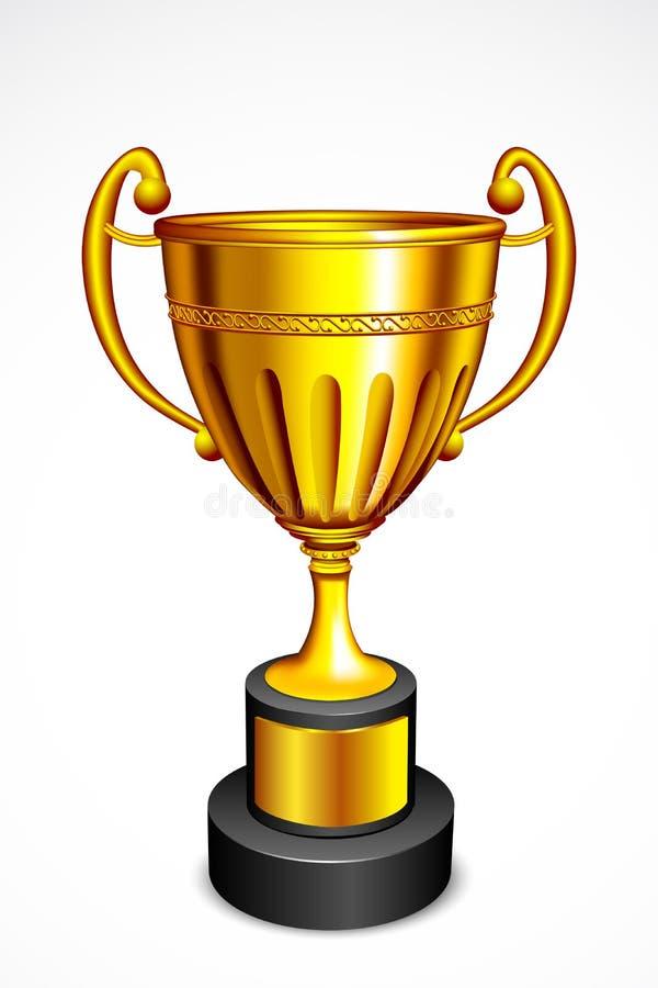 Troféu do ouro ilustração stock