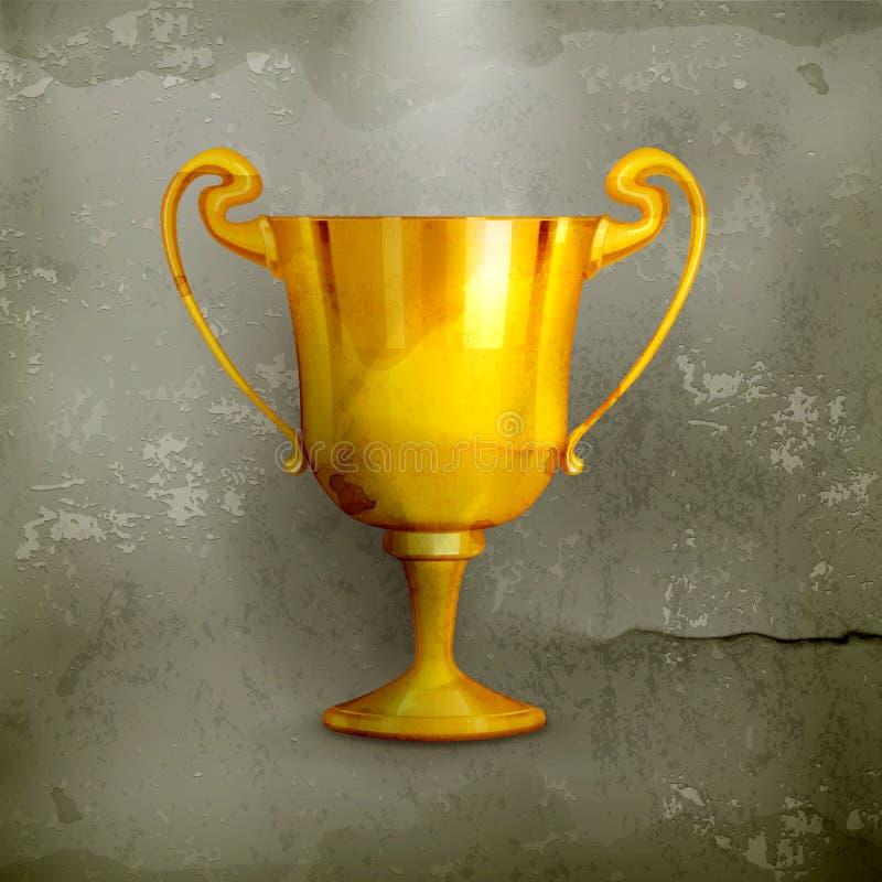 Troféu do ouro, antiquado ilustração do vetor