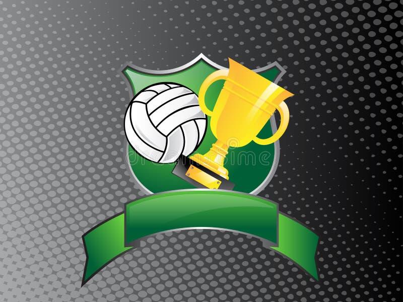 Troféu do voleibol ilustração royalty free