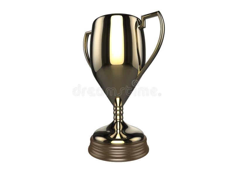 Troféu dos vencedores do ouro ilustração do vetor