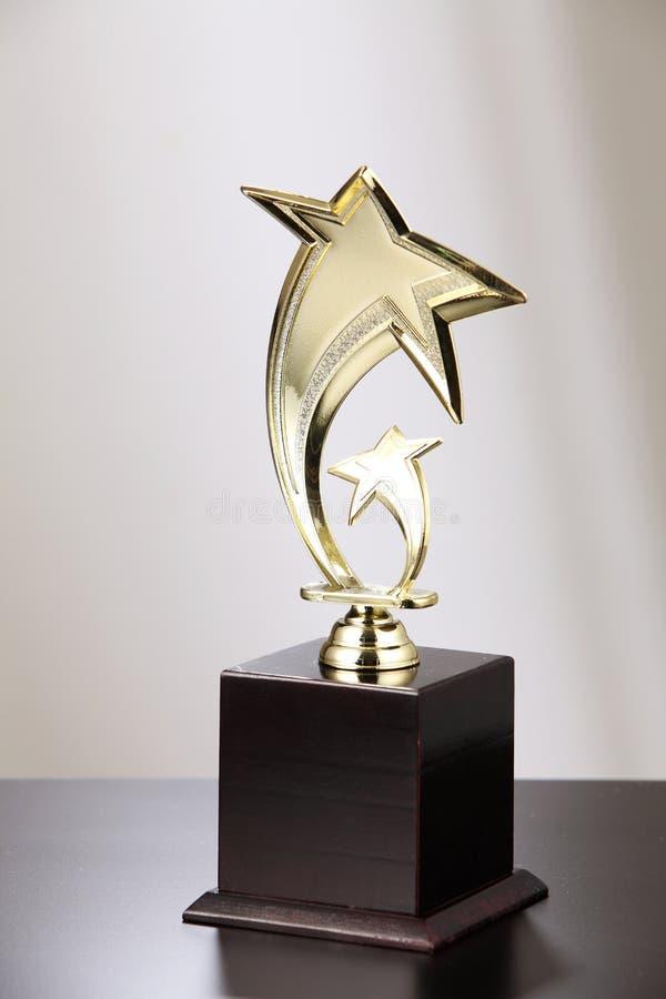 Troféu dourado fotos de stock