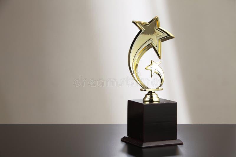 Troféu dourado fotografia de stock
