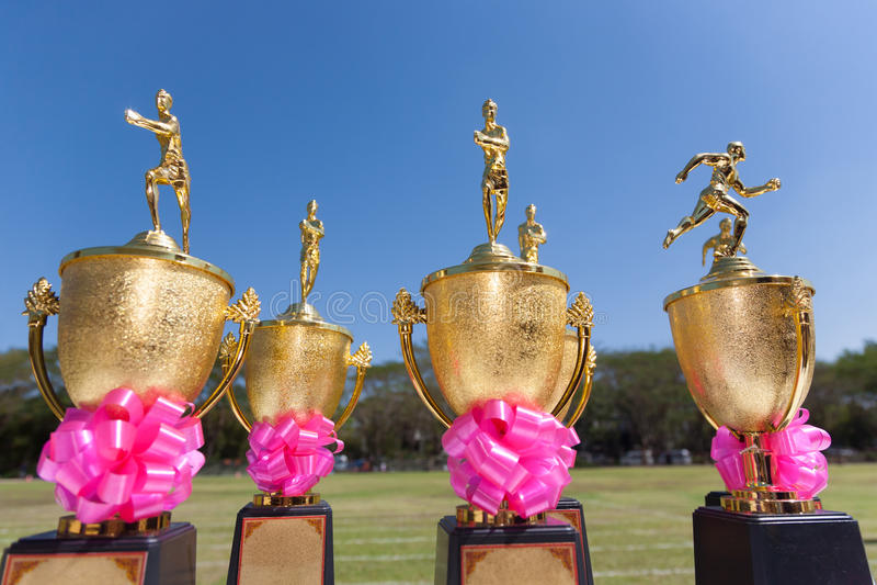 Troféus do atletismo foto de stock royalty free