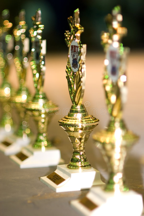 Troféus dos vencedores foto de stock