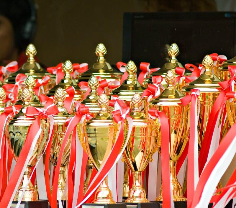 Troféus Em Um Evento De Esportes Imagens de Stock Royalty Free