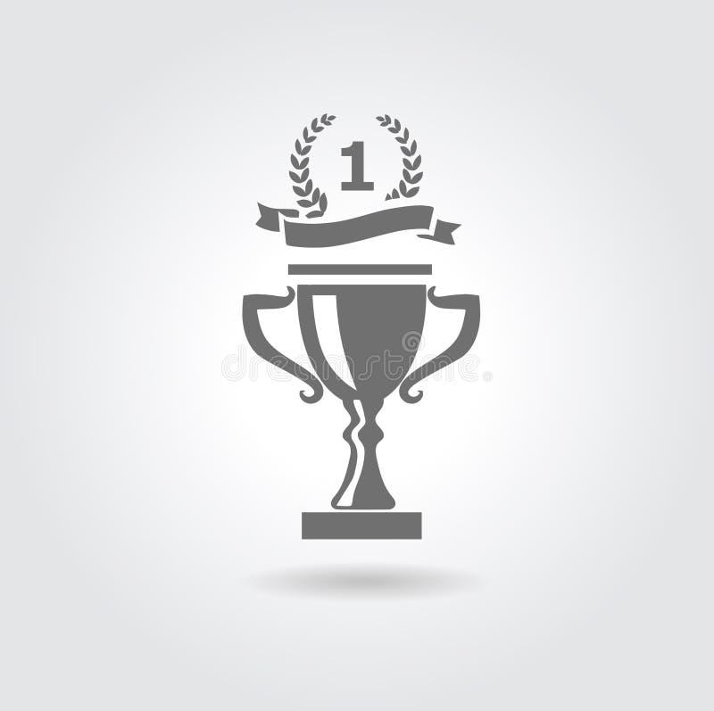 Trofee vectorpictogram vector illustratie
