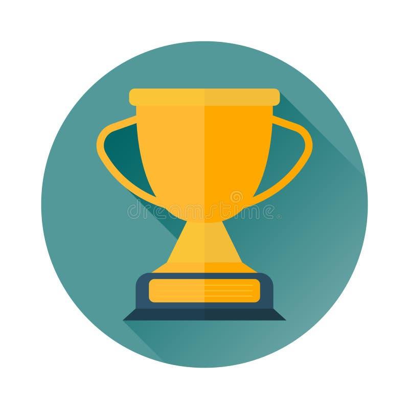 Trofeekop, toekenning, kampioenenkop voor eerste plaats royalty-vrije illustratie