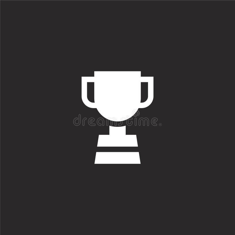Trofeepictogram Gevuld trofeepictogram voor websiteontwerp en mobiel, app ontwikkeling trofeepictogram van gevulde geïsoleerde hu stock illustratie