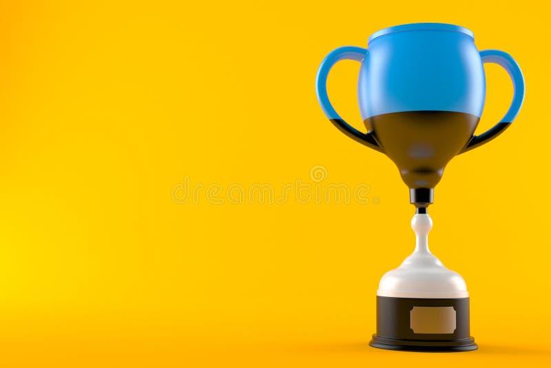 Trofeo con la bandera estonia ilustración del vector