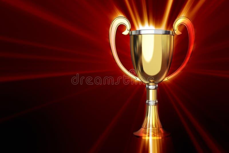 Trofeo con lustro illustrazione vettoriale