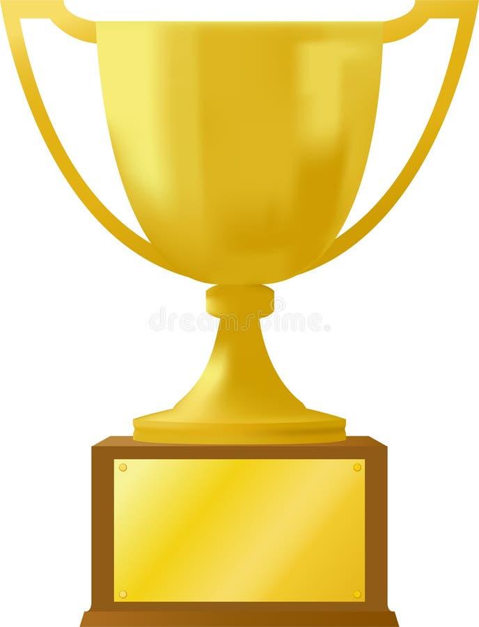 Trofeo de la concesión del oro ilustración del vector