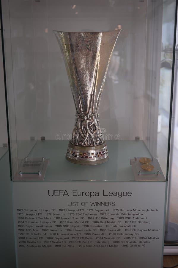 Trofeo de la liga del Europa de la UEFA imagenes de archivo