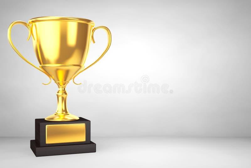 Trofeo de la taza del oro del campeón stock de ilustración