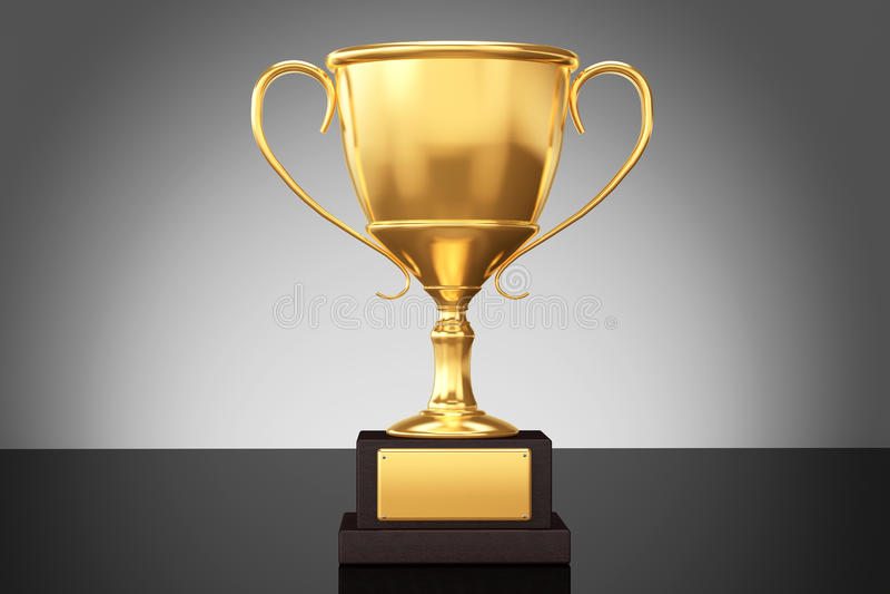 Trofeo de la taza del oro del campeón foto de archivo libre de regalías