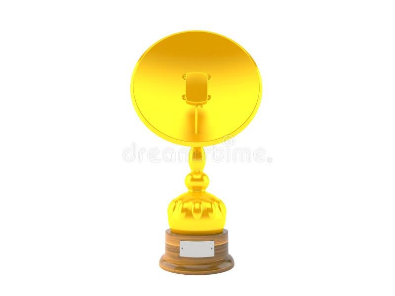 Trofeo de oro de la antena parabólica libre illustration