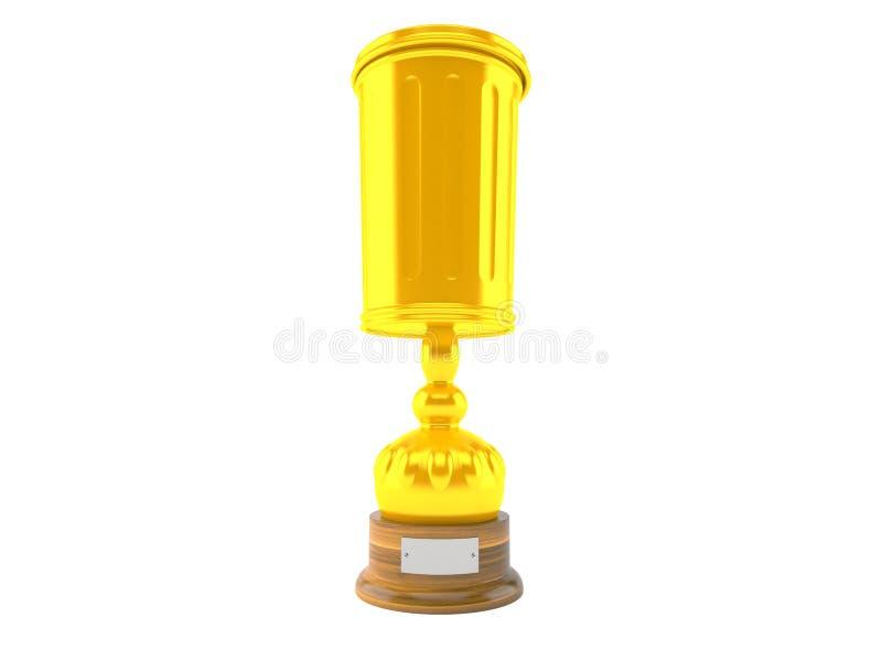 Trofeo del bote de basura ilustración del vector
