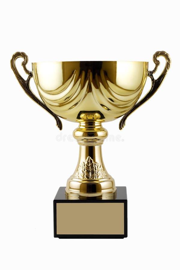 Trofeo del oro fotos de archivo