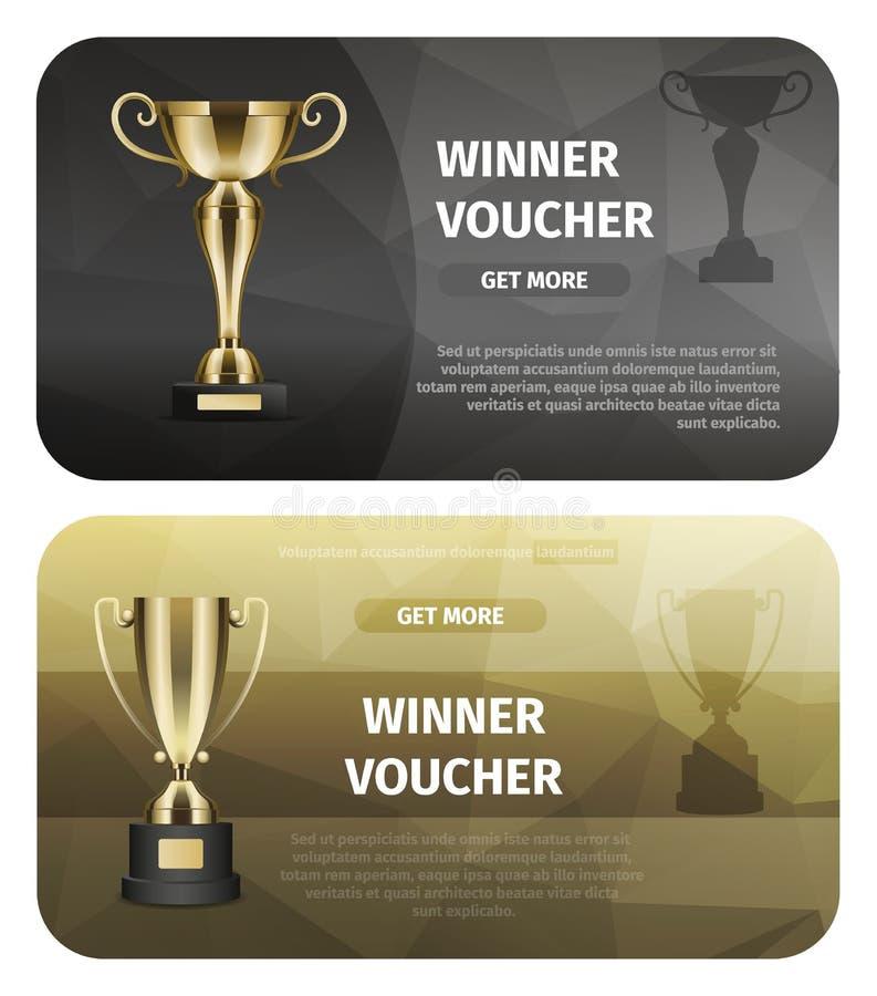 Trofeo del oro para Victory Business Illustration ilustración del vector