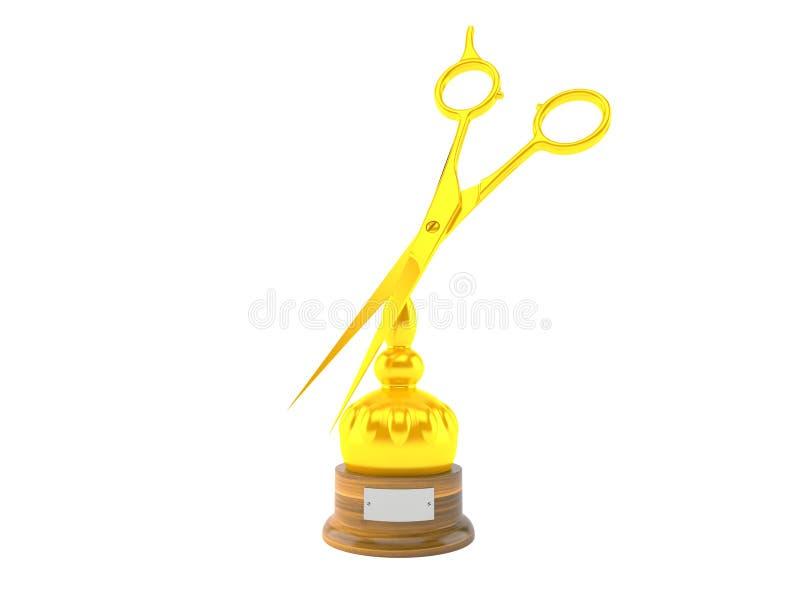 Trofeo del peluquero stock de ilustración