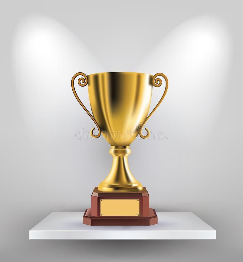 Trofeo dell'oro royalty illustrazione gratis