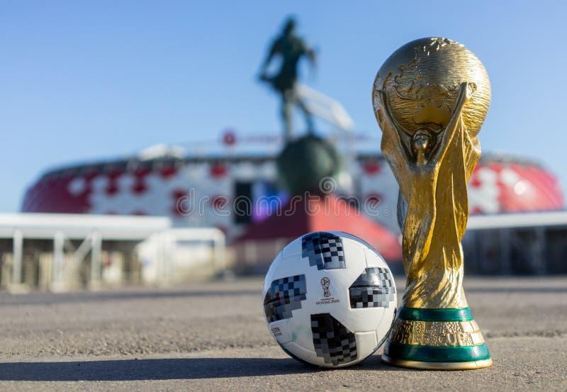Trofeo della coppa del Mondo della FIFA fotografia stock libera da diritti