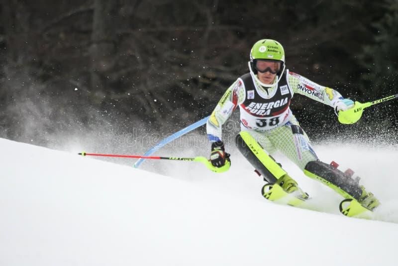Trofeo 2019 della regina della neve - slalom delle signore fotografie stock