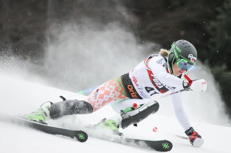 Trofeo 2019 della regina della neve - slalom delle signore fotografia stock