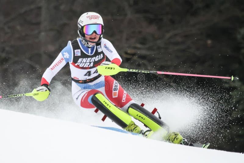 Trofeo 2019 della regina della neve - slalom delle signore immagini stock libere da diritti