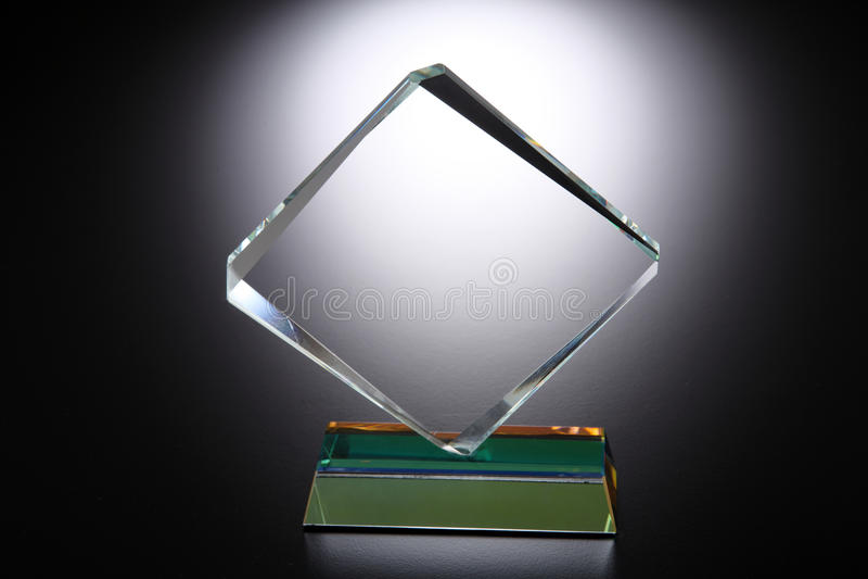 Trofeo di cristallo fotografie stock