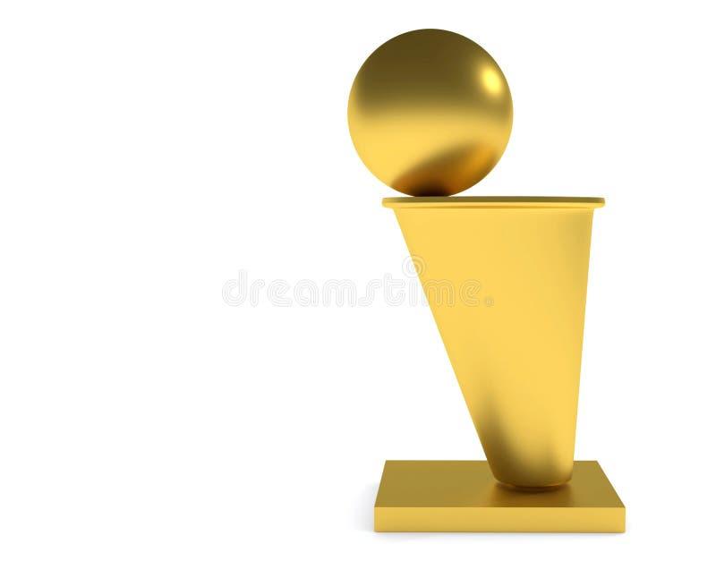 Trofeo di pallacanestro illustrazione vettoriale