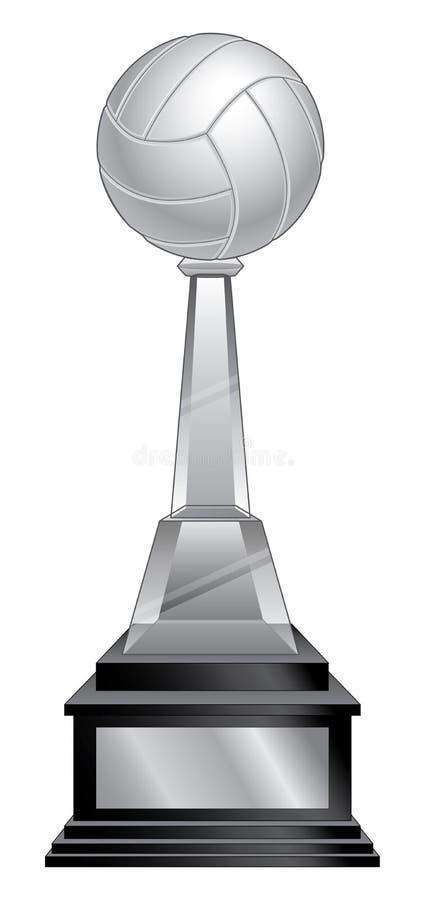 Trofeo di pallavolo - base nera royalty illustrazione gratis