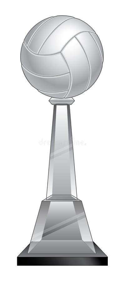 Trofeo di pallavolo - Crystal Base illustrazione vettoriale