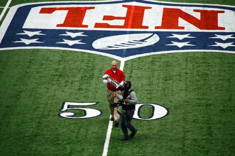 Trofeo di Super Bowl dello stadio dei cowboy fotografia stock libera da diritti