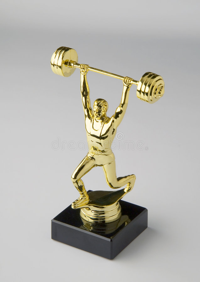 Trofeo di Weightlifting immagine stock libera da diritti