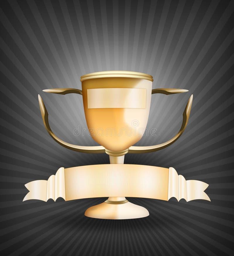 Trofeo dorato royalty illustrazione gratis