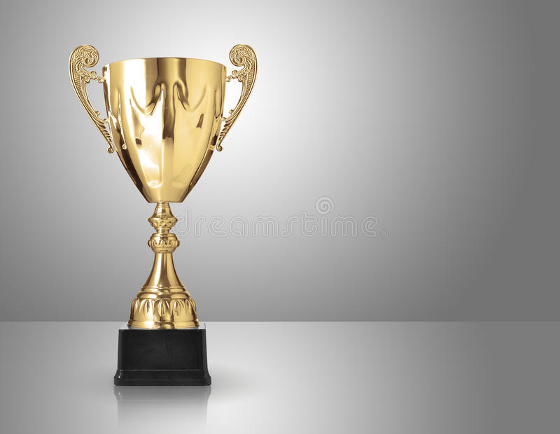 Trofeo dorato fotografia stock