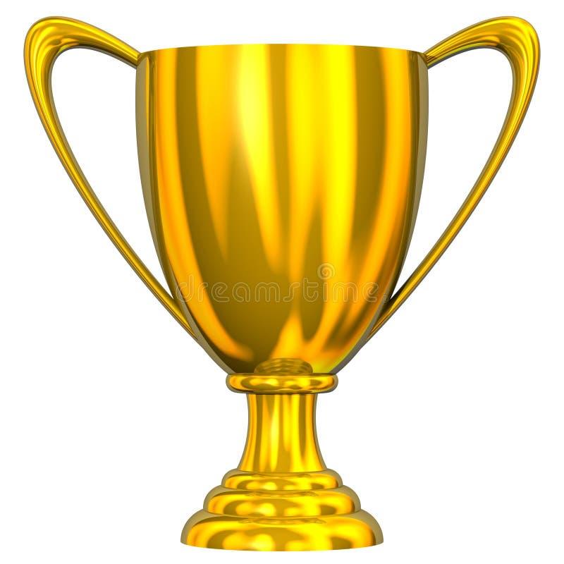Trofeo dorato illustrazione di stock