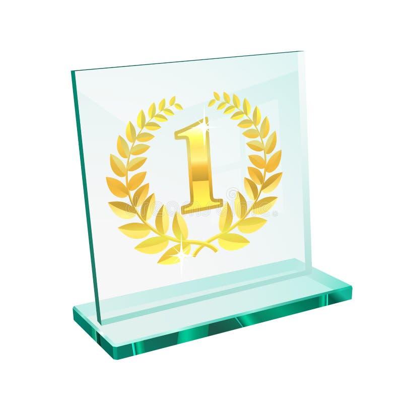Trofeo dorato per in primo luogo illustrazione di stock