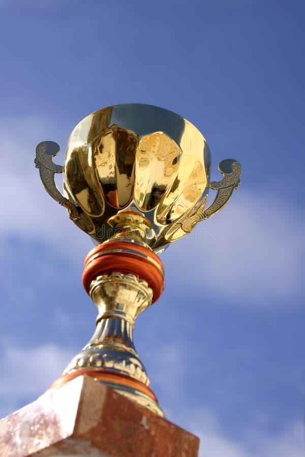 Trofeo e cielo fotografia stock libera da diritti