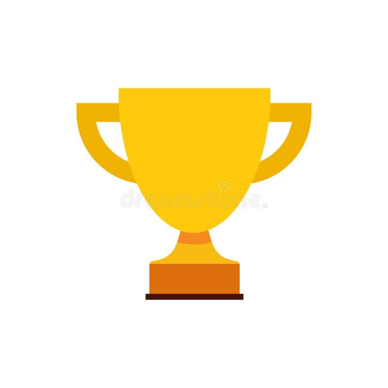 Trofeo Logo Icon Design stock de ilustración