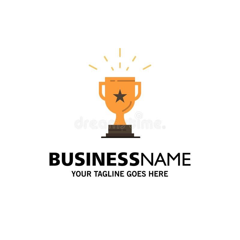Trofeo, logro, premio, negocio, premio, triunfo, negocio Logo Template del ganador color plano libre illustration