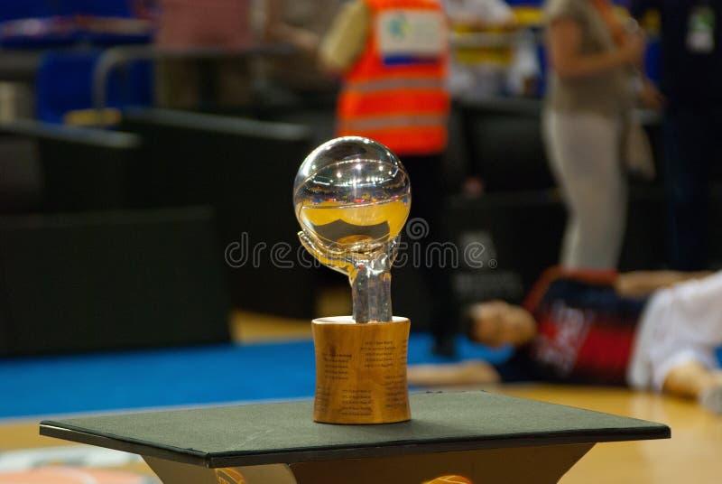 Trofeo spagnolo di pallacanestro a Palau Blaugran fotografia stock