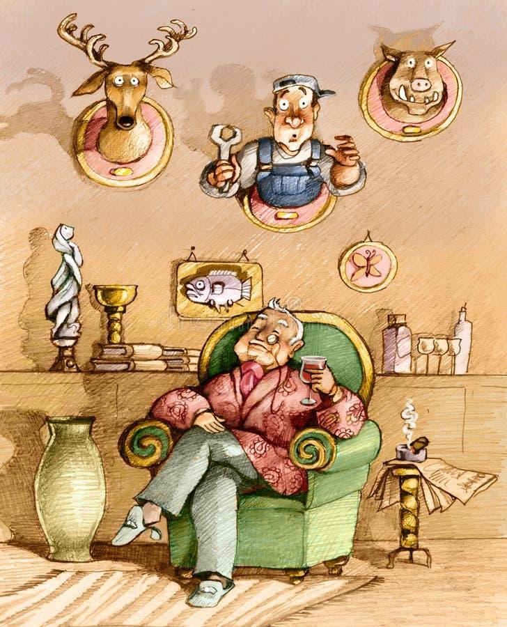 trofeos stock de ilustración