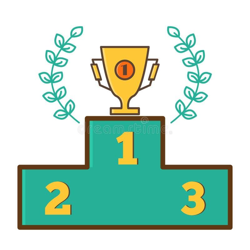 Trofeum filiżanka, Nagrodzona filiżanka - pierwszy miejsce royalty ilustracja