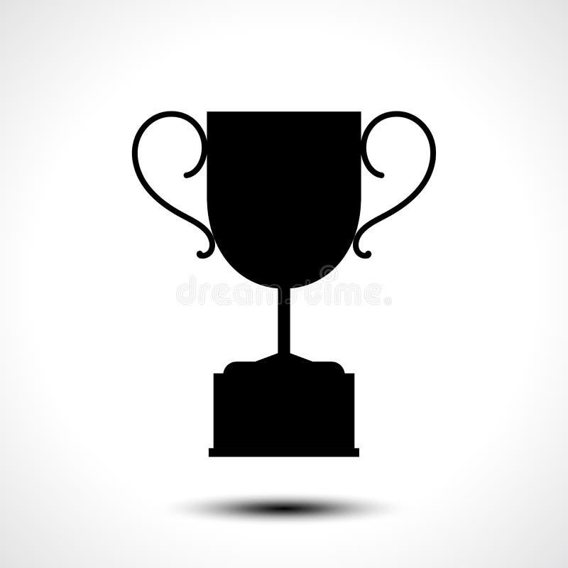 Trofeum filiżanki ikona ilustracja wektor