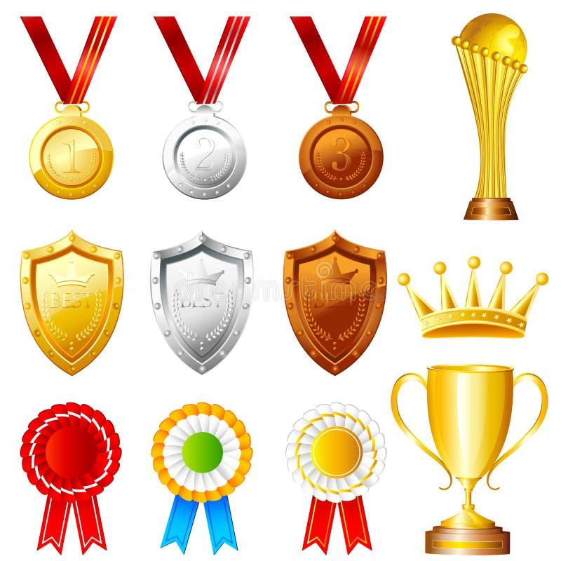 Trofeum i nagrody royalty ilustracja