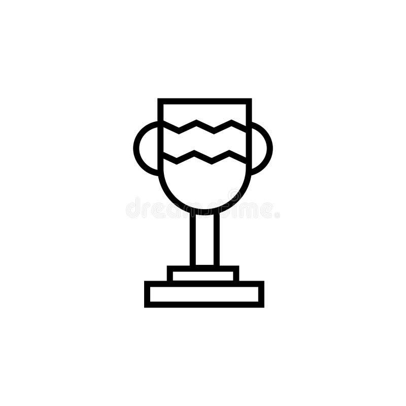 Trofeum sylwetki ikony wektoru znak i symbol odizolowywający na białym tle, trofeum sylwetki logo pojęcie ilustracja wektor